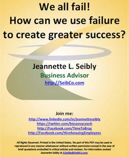 Failure to Create Greater Success